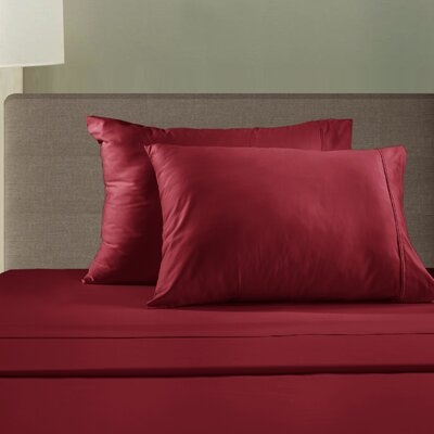 510 Thread Count Sheet Set Size: King, Color: Crimson Red