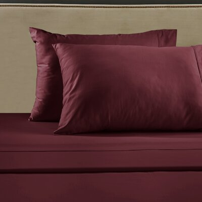 530 Thread Count Sheet Set Size: Queen, Color: Burgundy