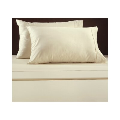 Luxury 600 Thread Count Solid Sheet Set Color: Ivory, Size: California King