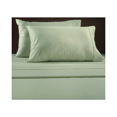 Luxury 600 Thread Count Solid Sheet Set Color: Sage, Size: Full