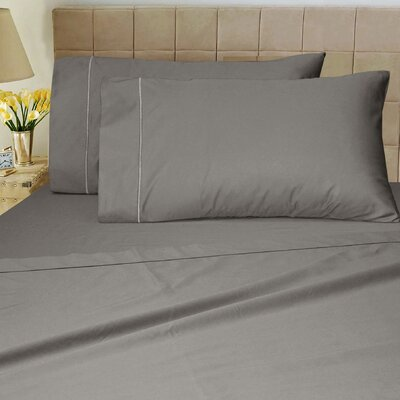 1200 Thread Count Sheet Set Color: Charcoal, Size: King