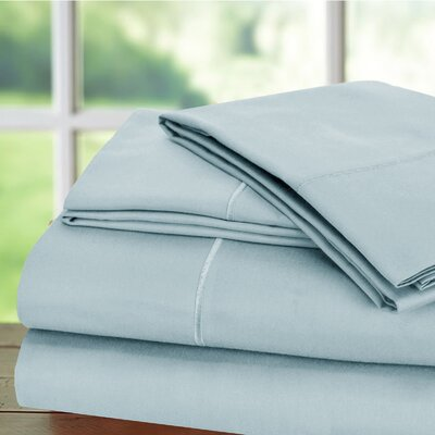 Luxury 6 Piece 1000 Thread Count Sheet Set Color: Blue, Size: Queen