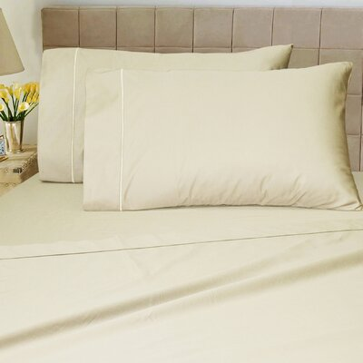 1200 Thread Count Sheet Set Color: Ivory, Size: King