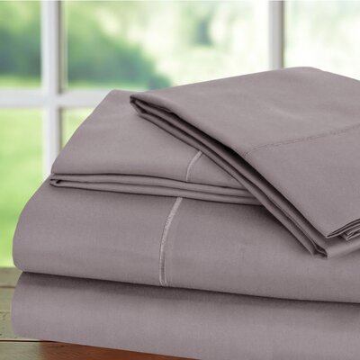 Luxury 6 Piece 1000 Thread Count Sheet Set Color: Lilac, Size: King