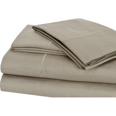 Luxury 4 Piece 1000 Thread Count Sheet Set Color: Silver, Size: Queen