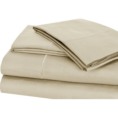 Luxury 4 Piece 1000 Thread Count Sheet Set Color: Ivory, Size: King
