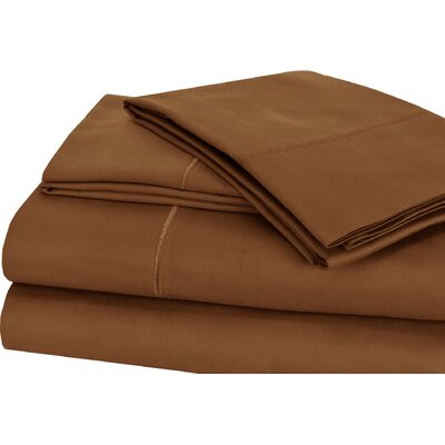 Luxury 4 Piece 1000 Thread Count Sheet Set Color: Mocha, Size: Full