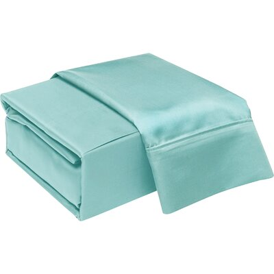 300 Thread Count Cotton Sheet Set Color: Aqua, Size: Twin