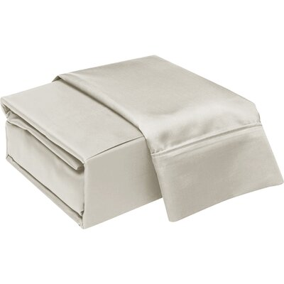 300 Thread Count Cotton Sheet Set Color: Silver, Size: Twin