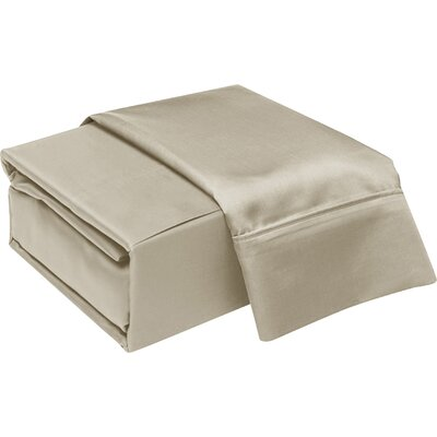 300 Thread Count Cotton Sheet Set Color: Cobblestone, Size: Queen