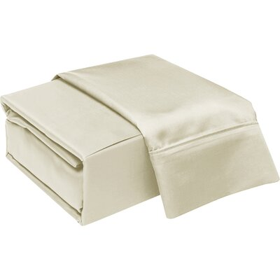 300 Thread Count Cotton Sheet Set Color: Ivory, Size: Queen