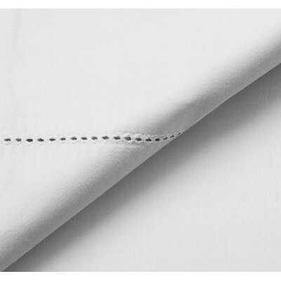 Solid 600 Thread Count 100% Supima Cotton 4 Piece Sheet Set Size: Queen, Color: White