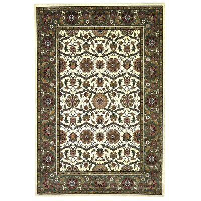 Cambridge Ivory/Green Floral Area Rug Rug Size: 3'3