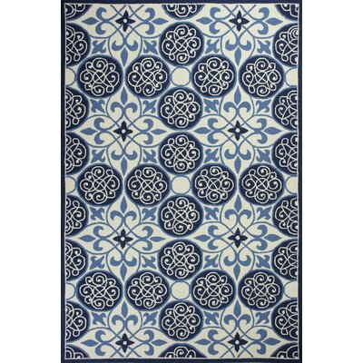 Whitmore Hand-Woven Blue/Ivory Area Rug Rug Size: Rectangle 53 x 83