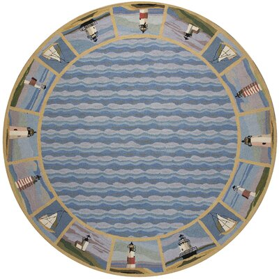Clay Lighthouse Nautical Novelty Rug Rug Size: Rectangle 53 x 83