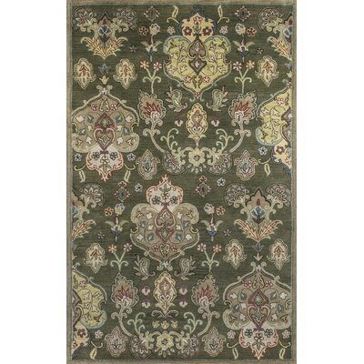 Blarwood Olive Tapestry Area Rug Rug Size: Rectangle 8 x 106