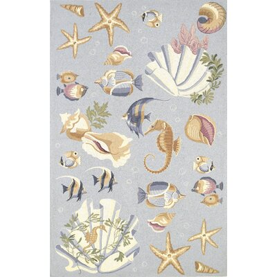 "Colonial Blue Nautical Novelty Rug Rug Size: Oval 7'9"" x 9'9"