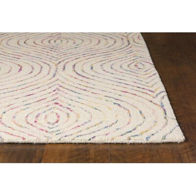 Delbert Hand-Tufted Ivory/Purple Area Rug