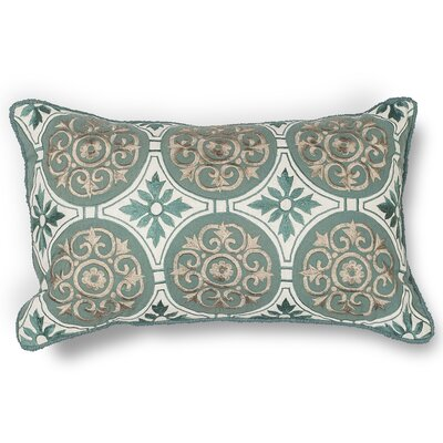 Worley Medallions Cotton Lumbar Pillow