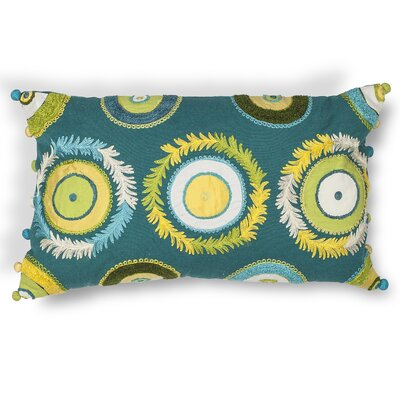 Greenbriar Circles Cotton Lumbar Pillow