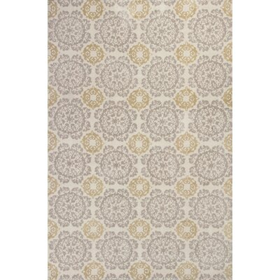Ostrander Silver/Gold Newport Area Rug Rug Size: 5 X 7