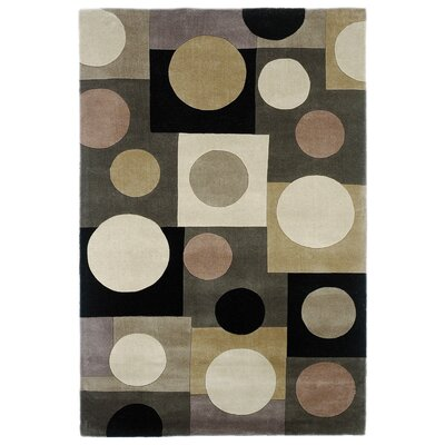 Estrada Hand-Tufted Wool Gray/Beige Area Rug