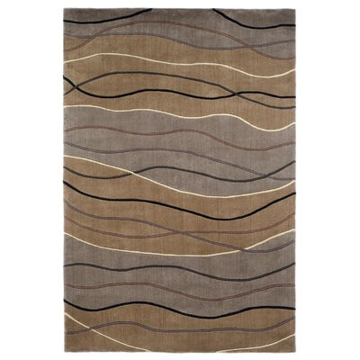 Lillian Hand-Tufted Wool Brown Area Rug