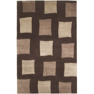 Estrada Hand-Tufted Wool Brown Area Rug