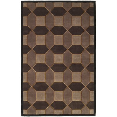 Zavala Hand-Tufted Wool Brown Area Rug