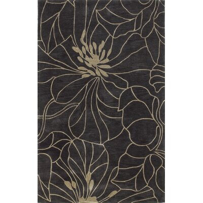 Bradshaw Hand-Tufted Black Area Rug