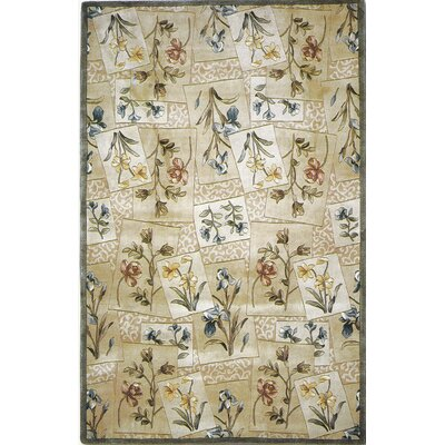 West Yellowstone Hand-Tufted Wool Beige Floral Area Rug