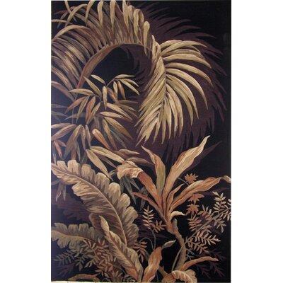 Agatha Hand-Tufted Wool Brown/Black Area Rug