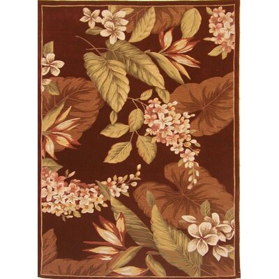 Agatha Hand-Tufted Wool Ruby Flora Area Rug