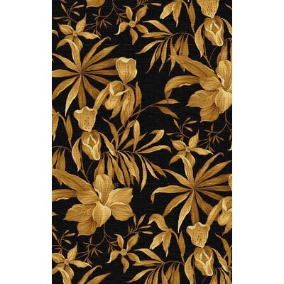 Atwater Hand-Tufted Wool Black/Yellow Floral Elegance Area Rug