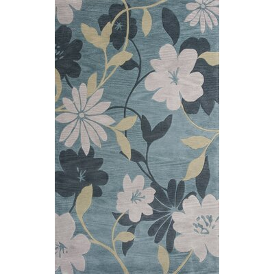 Bradshaw Hand-Tufted Blue/Pink Area Rug Rug Size: 5 x 8