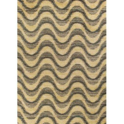 Brayden Gray/Sand Area Rug Rug Size: 53 x 77