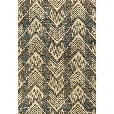 Brayden Green/Beige Area Rug Rug Size: 27 x 411