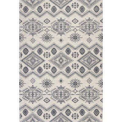 Kaylin Ivory/Gray Area Rug Rug Size: 53 x 77