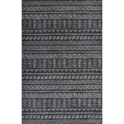 Kaylin Charcoal Area Rug Rug Size: 53 x 77