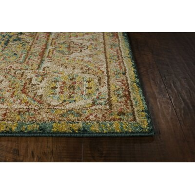Holbrook Teal/Sand Area Rug Rug Size: Rectangle 53 x 77
