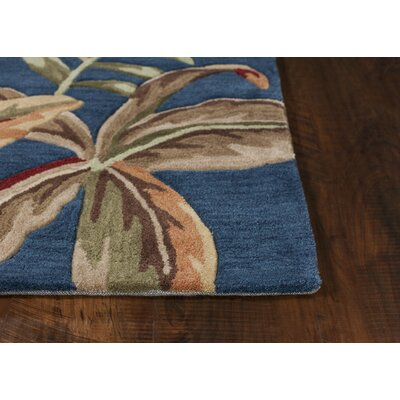 Cheyenne Hand-Tufted Blue/Green Area Rug Rug Size: 33 x 53