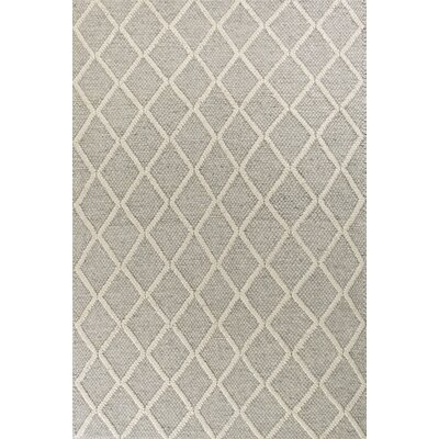 Sherwood Diamonds Hand-Tufted Gray Area Rug Rug Size: 5 x 7