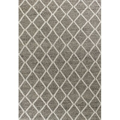 Buckeys Diamonds Hand-Tufted Dark Gray Area Rug Rug Size: 5 x 7