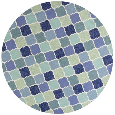 Boornazian Hooked Wool Blue Indoor/Outdoor Area Rug Rug Size: Round 7'6