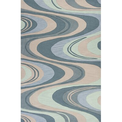 Randolph Hand-Tufted Beige/Seafoam Waves Area Rug Rug Size: 9 x 13