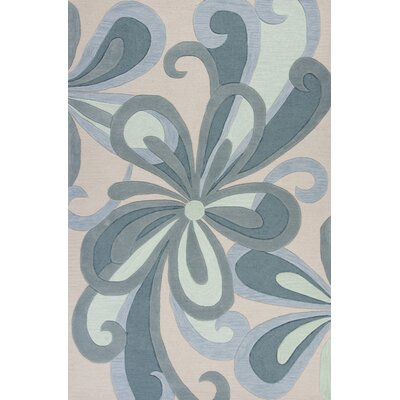 Randolph Hand-Tufted Seafoam/Groove Area Rug Rug Size: Rectangle 79 x 99