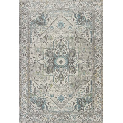 Curtice Gray/Blue Sutton Area Rug Rug Size: Rectangle 53 x77