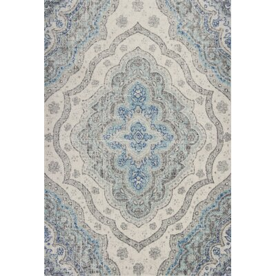 Curtice Gray/Blue Layla Area Rug Rug Size: Rectangle 9'10