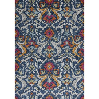 Curtice Navy Area Rug Rug Size: Rectangle 53 x77