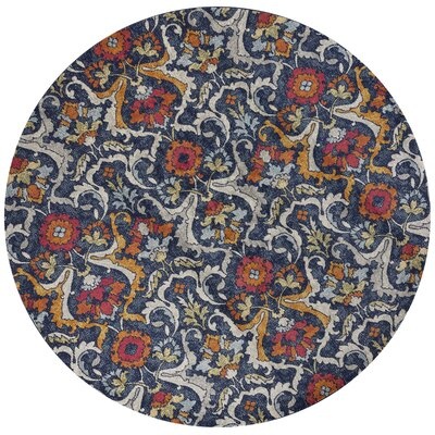 Curtice Navy Area Rug Rug Size: Round 7'10